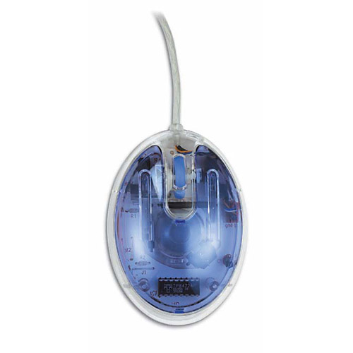 Mouse albastru transparent